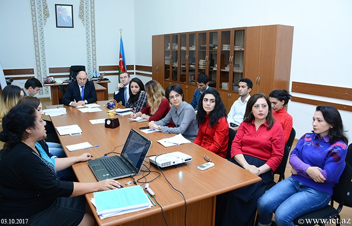 Presidium of ANAS.  A joint seminar of  Department No.17 and Public Relations Department