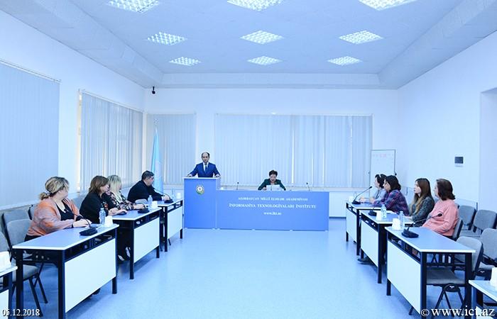 Институт информационных технологий НАНА. Научный семинар Отдела №15