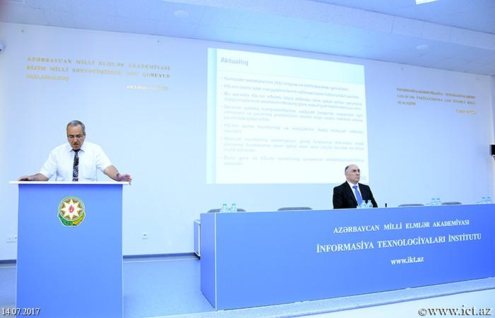 AMEA İnformasiya Texnologiyaları İnstitutu. Kompüter şəbəkələrinin intellektual monitorinqi problemləri araşdırılır