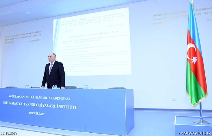 "Institute of Information Technology of ANAS. Information system of ""Azerbaijani scientist's diaspora"" is being developed"