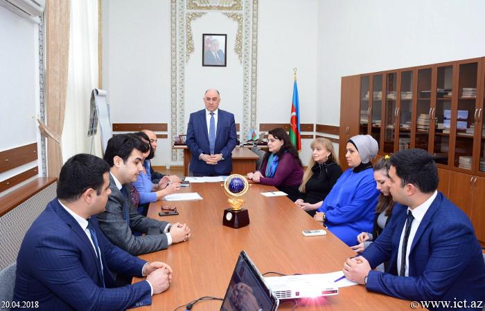 Presidium of ANAS.  Presentation of the web site of the two departments of the Presidium of ANAS held