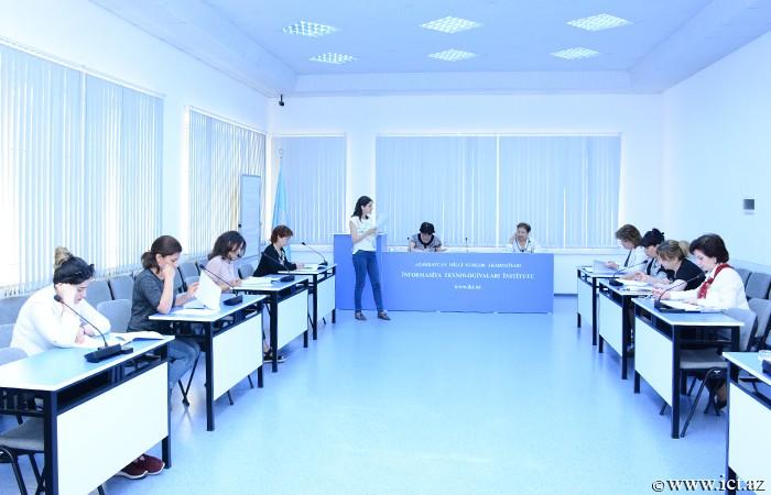 AMEA İnformasiya Texnologiyaları İnstitutu. İnstitut əməkdaşları üçün təşkil olunan ingilis dili kursu üzrə imtahanlar başa çatdı