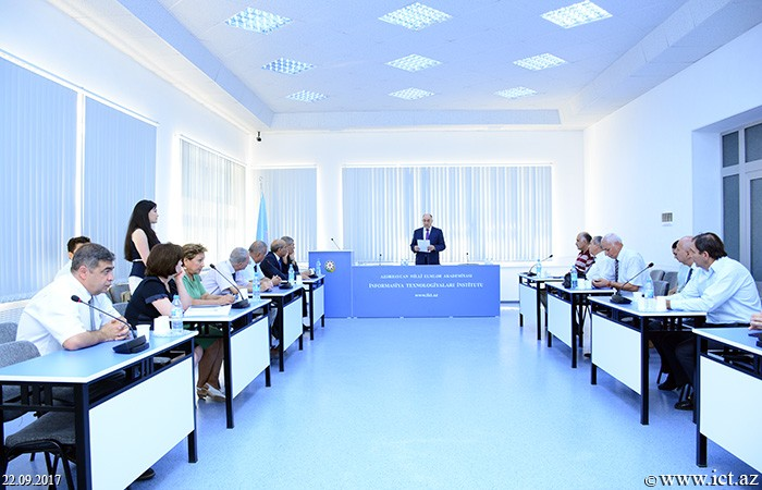 Institute of Information Technology of ANAS. The next meeting of the Dissertation Board