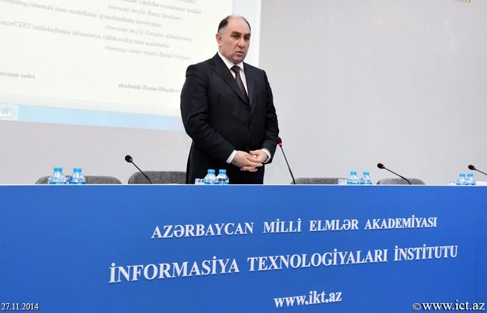 AMEA İnformasiya Texnologiyaları İnstitutu. 30 Noyabr - Beynəlxalq İnformasiya Təhlükəsizliyi gününə həsr olunmuş elmi-praktiki seminar