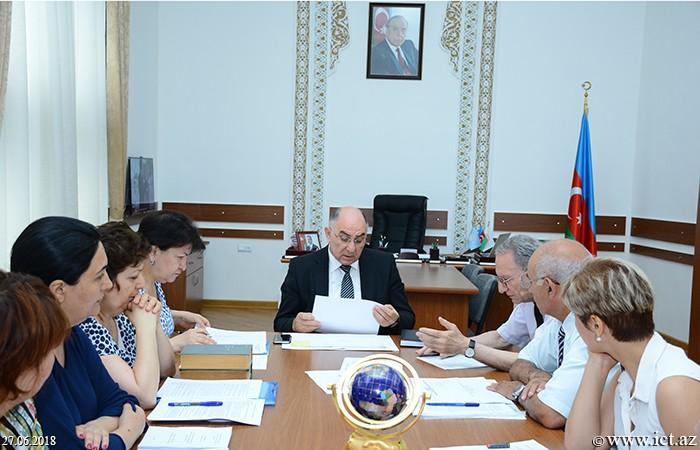 Presidium of ANAS.Semi-annual report of Department No.9 was presented