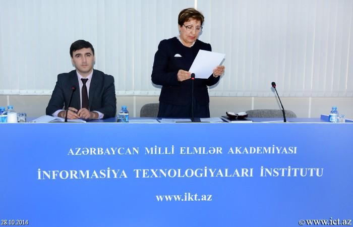 AMEA İnformasiya Texnologiyaları İnstitutu. Dissertasiya şurasının növbəti seminarı