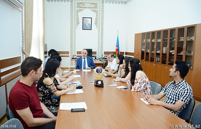 Presidium of ANAS. Seminar of Department  No.17 and Public Relations Department