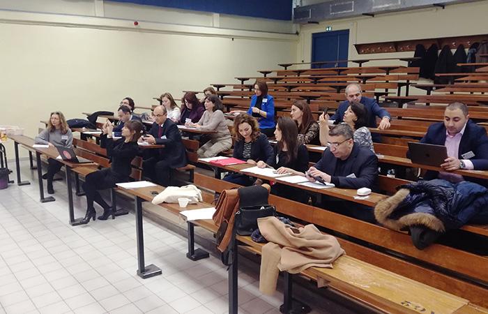 """Fransanın Monpelye Universiteti. İnstitutun əməkdaşlarının Fransada """"Nizami"""" layihəsi çərçivəsində keçirilən toplantıda iştirakı"""