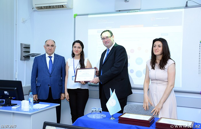 "Institute of Information Technology  of ANAS. Collegues of ANAS were awarded certificates on ""Web of Science"""
