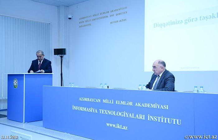 Институт информационных технологий НАНА. Заслушан годовой отчет Отдела №2 за 2018 год