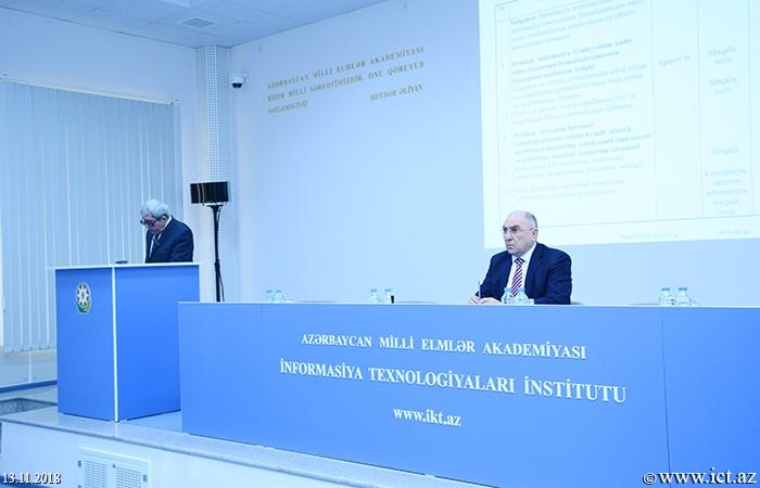 Институт информационных технологий НАНА. Заслушан годовой отчет Отдела №6 за 2018 год