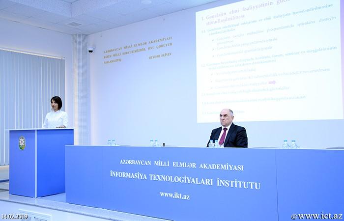 AMEA İnformasiya Texnologiyaları İnstitutu.  Gənc Alim və Mütəxəssislər Şurasının 2019-cu il üzrə fəaliyyət planının müzakirəsi