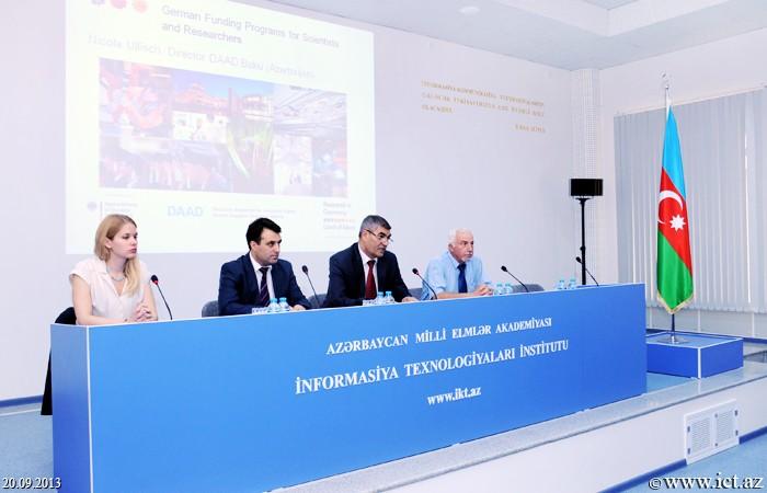 """AMEA İnformasiya Texnologiyaları İnstitutu. """"Almaniyada doktorantura təhsili və elmi tədqiqat imkanları"""" mövzusunda seminar"""