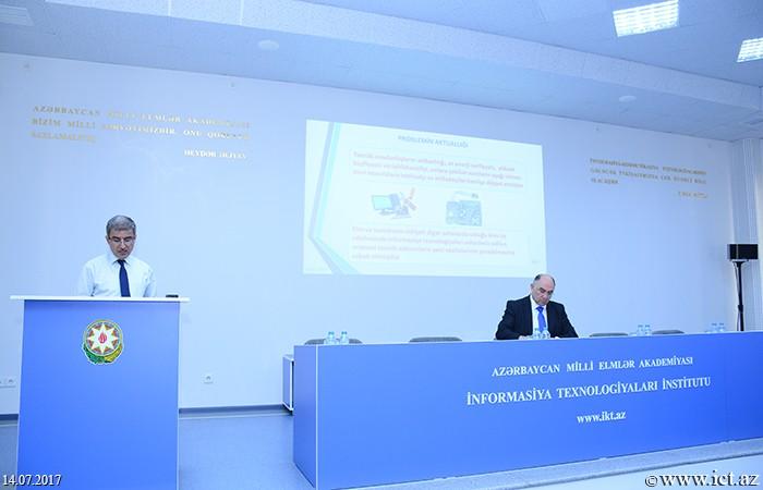 AMEA İnformasiya Texnologiyaları İnstitutu. Kompüter sistemlərinə xidmətlər üzrə dünya təcrübəsi araşdırılır