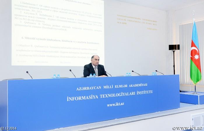 AMEA İnformasiya Texnologiyaları İnstitutu. 16 saylı şöbənin illik hesabatı