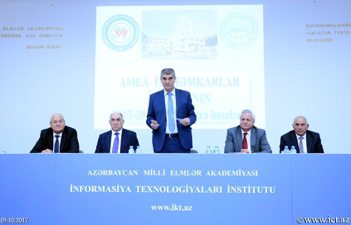 AMEA İnformasiya Texnologiyaları İnstitutu.  Həmkarlar İttifaqının 2013-2017-ci illər üzrə hesabatının müzakirəsi