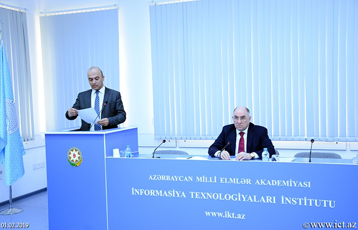 Presidium of ANAS. An action plan of Department No.18