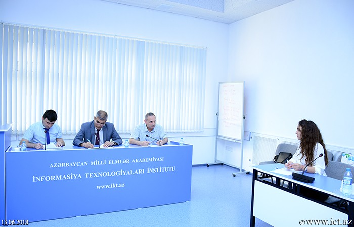 Institute of Information Technology of ANAS.  A competition for admission to the master's degree of the Institute of Information Technology held