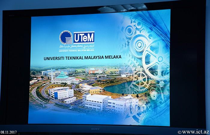 AMEA İnformasiya Texnologiyaları İnstitutu.  Malayziya Texniki Universitetinin nümayəndələri ilə görüş