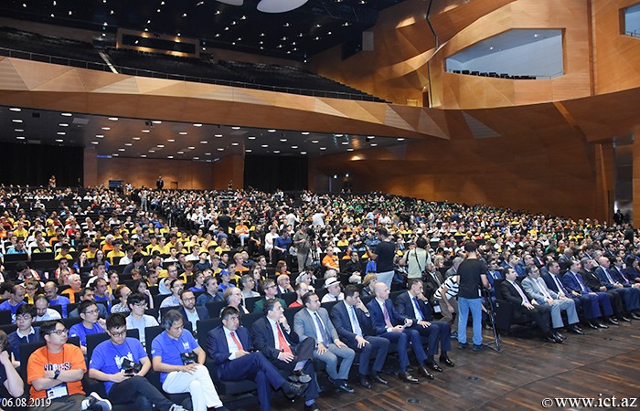 Baku Convention Center. 31st International Olympiad in Informatics officially opens in Baku