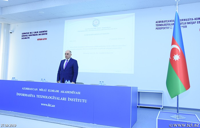 Rasim Alguliyev, Alguliyev, Rasim, ict.az, ANAS, Academy of Sciences, academy, Rasim, award, Institute of Information Technology,  Institute of Information Technology of ANAS