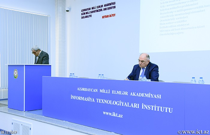 "Institute of Information Technology of ANAS. Scientific seminar on ""Development of scientific-theoretical and architectural-technological bases of the national acoustic intellectual monitoring network with the use of Internet of Things"""