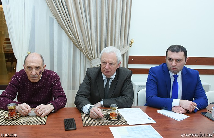 Presidium of ANAS. A meeting with the head of the Cyber Security Department of the Polish National Center for Nuclear Research, Professor Yeček Kajevski and Professor of Computer and System Sciences at Stockholm University, professor Oliver Popov.