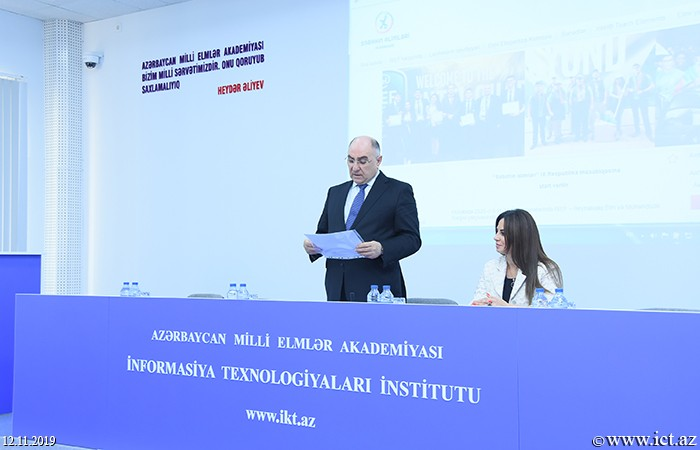 Institute of Information Technology of ANAS Meeting with a group of students from Baku European High School