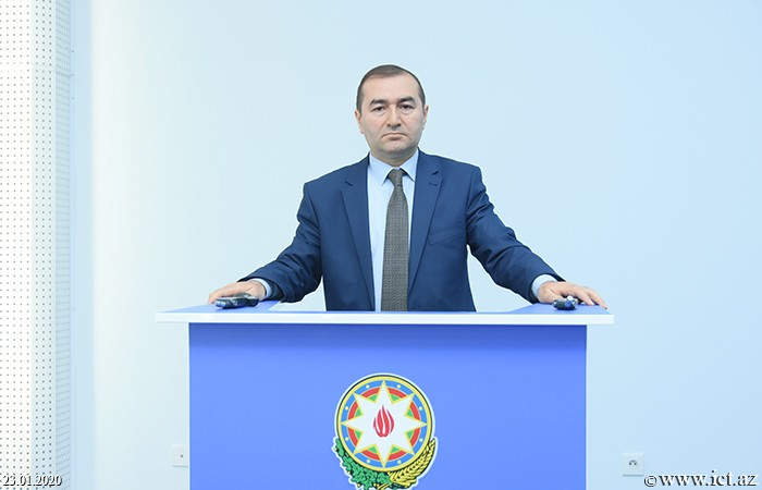 Institute of Information Technology of ANAS. The head of the Public Relations Department, Rasim Mahmudov, made a report on the establishment of the  Baku regional center of the World Economic Forum