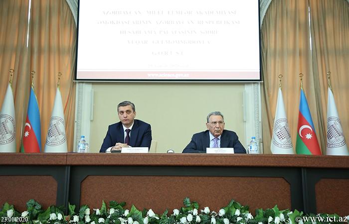 Presidium of ANAS.  Meeting with Chairman of the Chamber of Accounts Vugar Gulmammadov