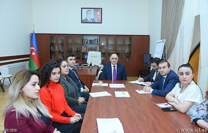 Presidium of ANAS.  Scientific seminar of department No. 17