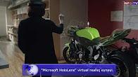 """Microsoft HoloLens"" virtual reality glasses"