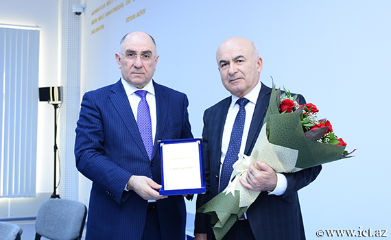 Congratulations on 70th anniversary of Head of Department of Institute Tahmasib Fataliyev!