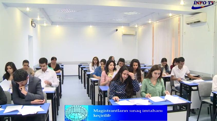 Magistrantlar üçün sınaq imtahanı