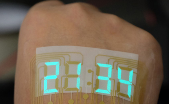 Engineers created an epidermal watch - they stick directly to the skin