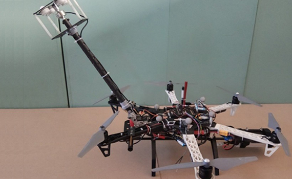 A drone with a pressure-sensitive sensor will simplify the inspection of glass panels in skyscrapers