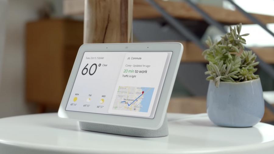 "Google introduced the smart display ""Home Hub"""