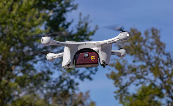 The drug was first delivered to the client by a drone