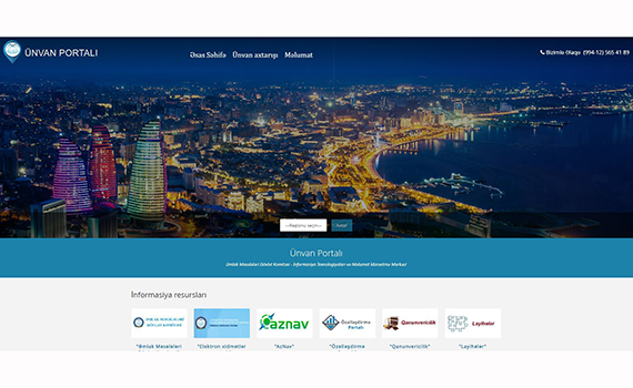 Azerbaijan has created the first address portal.