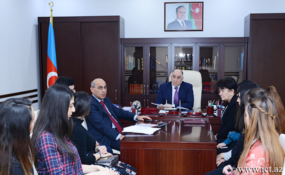 The meeting was held with students of SABAH group of Baku State University