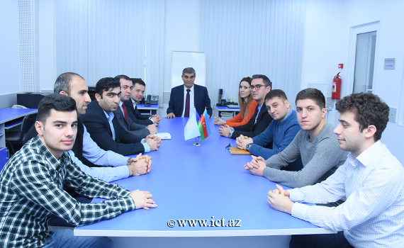 The meeting with the delegation of AzEduNet and Enginet was held at the Institute