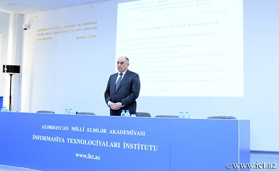 """Akademik R.Əliquliyev: """"İnstitutun elmi fəaliyyəti gücləndirilməlidir"""""""