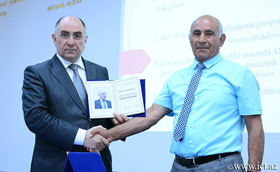 Congratulations on the 70th anniversary of Sayar Abdullayev, Head of Department of the Institute!