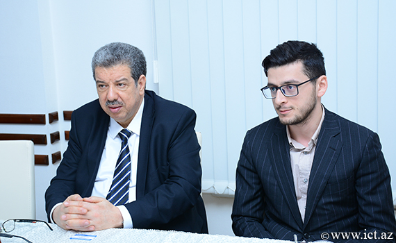 The meeting was held at the Institute with the Ambassador of Algeria to Azerbaijan