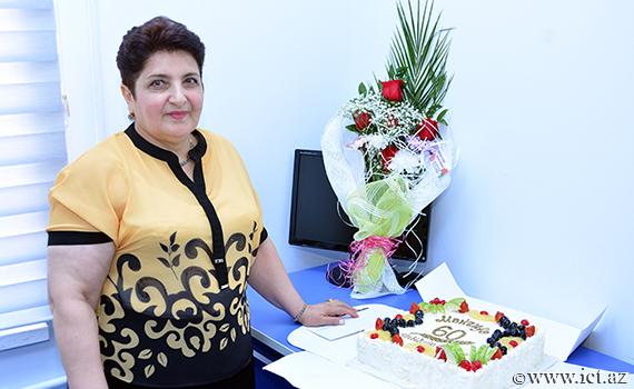 The chief project engineer of the Institute - Makrufa Hajırahimova celebrates her 60th anniversary!