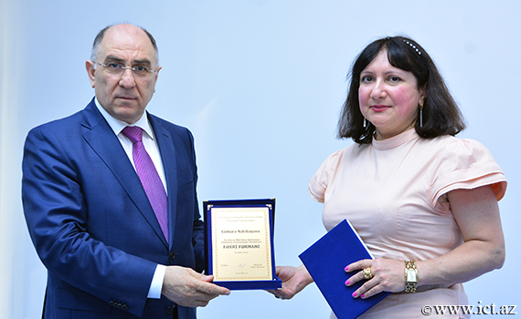 Head of department of the Institute of Information Technology Gulnara Nabibayova was awarded with Honorary Diploma