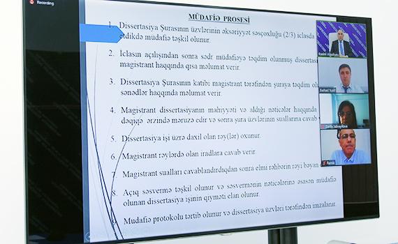 İnstitutun 4 magistrantı dissertasiya işini uğurla müdafiə etdi