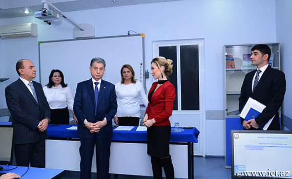President of ANAS acquainted with the process of English language examination for master  students