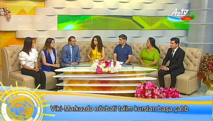 Azərbaycan Televiziyasında Viki-Mərkəzin fəaliyyəti müzakirə olunub