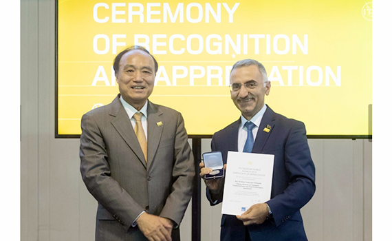 Ministry of Transport, Communications and High Technologies awarded ITU certificate and silver medal